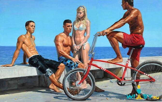 Микеле Дель Кампо Фотореалистичные картины 1339839352_17