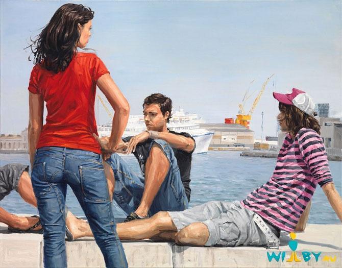 Микеле Дель Кампо Фотореалистичные картины 1339839443_12